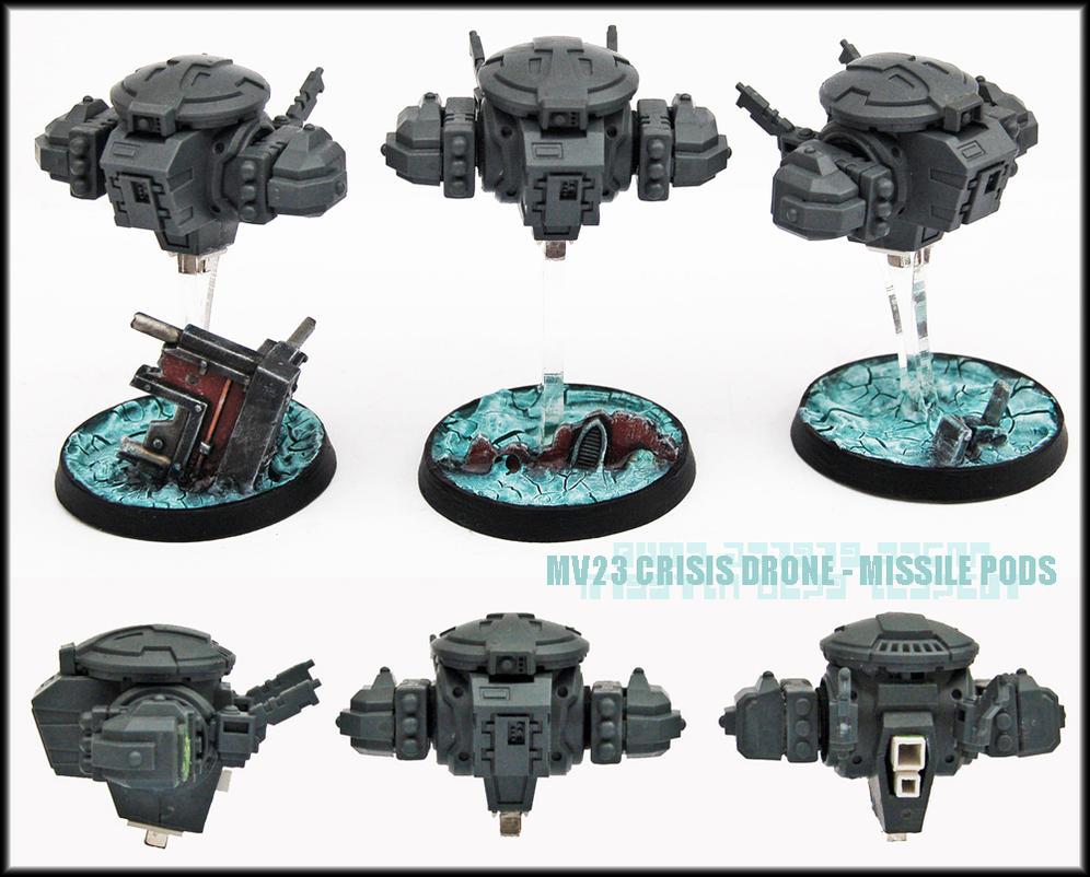 MV23 Crisis Drones Missile Pods UP by Proiteus