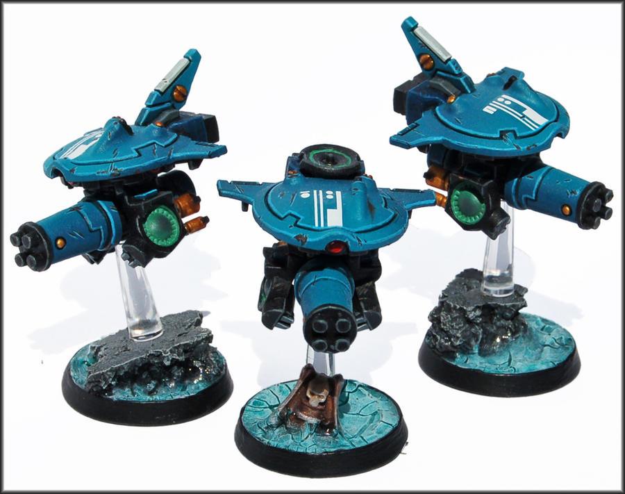 Tau Stealth Attack Drone Squadron by Proiteus