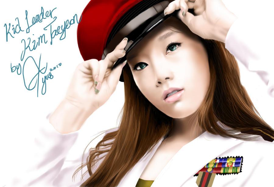 digital art snsd-taeyeon by blastfaizu2