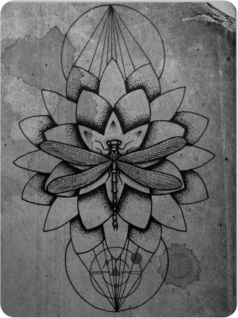 Dragonfly and lotus flower drawing topsimages dragonfly tattoo sketch sparc on deviantart jpg 774x1032 dragonfly and lotus flower drawing izmirmasajfo