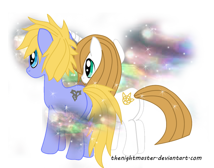 My Little Pony - Tidus and Yuna by TheNightMaster