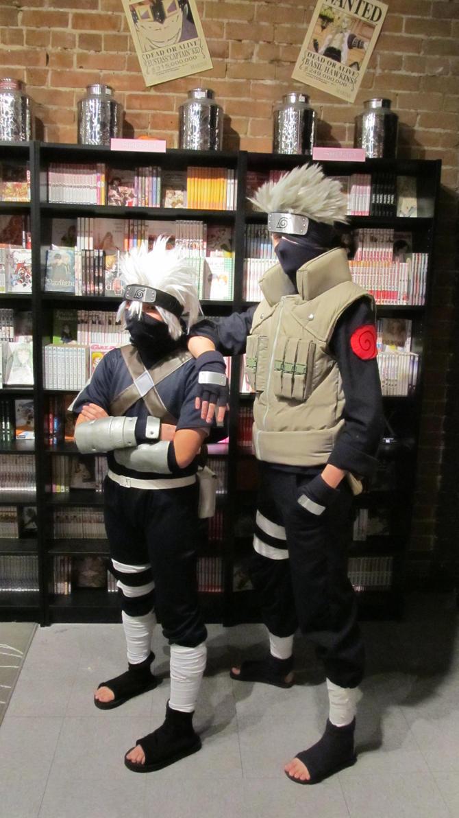 Young Kakashi and Future Kakashi by yurakakashi