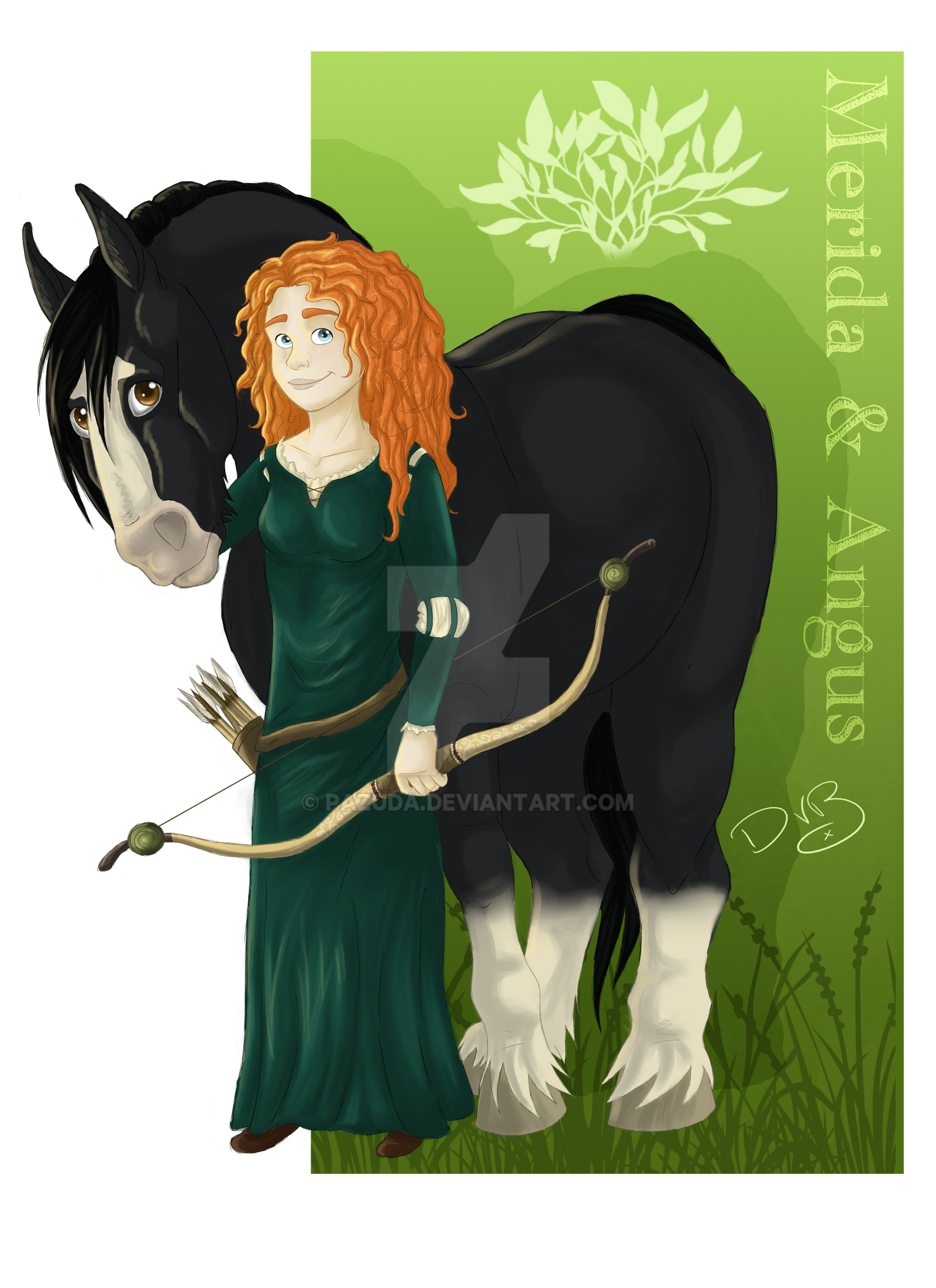 Merida and Angus by Pazuda
