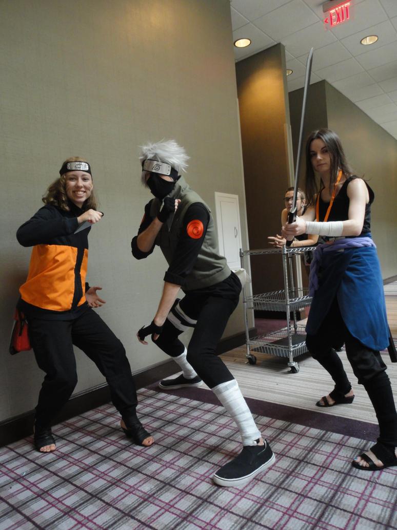 AWA 2014- Kakashi, Female Naruto, and Sasuke by watercolos