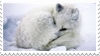 Arctic Fox Stamp by Lunakinesis