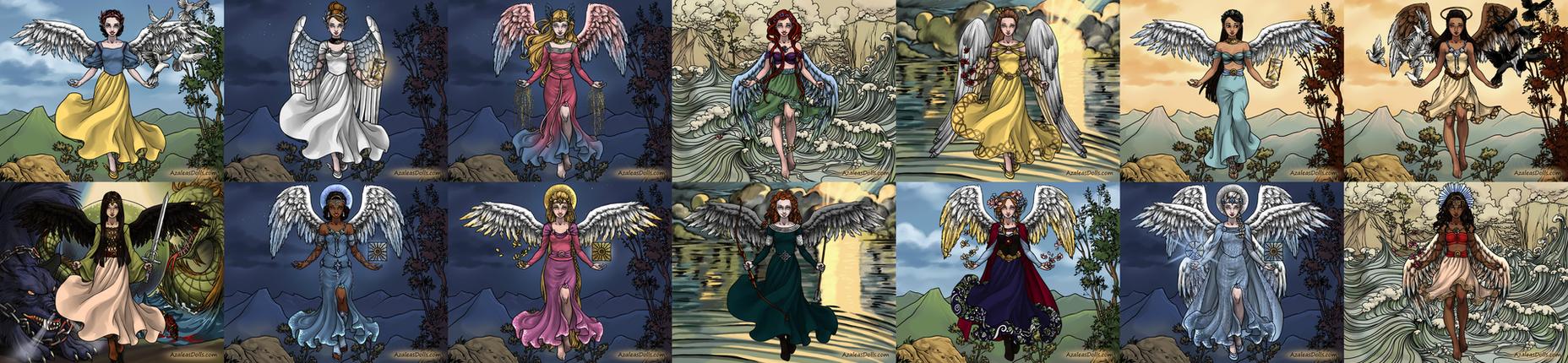 Angelic Princesses by Lunakinesis