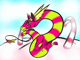 Delicious sweet dragon by AnvarDragon