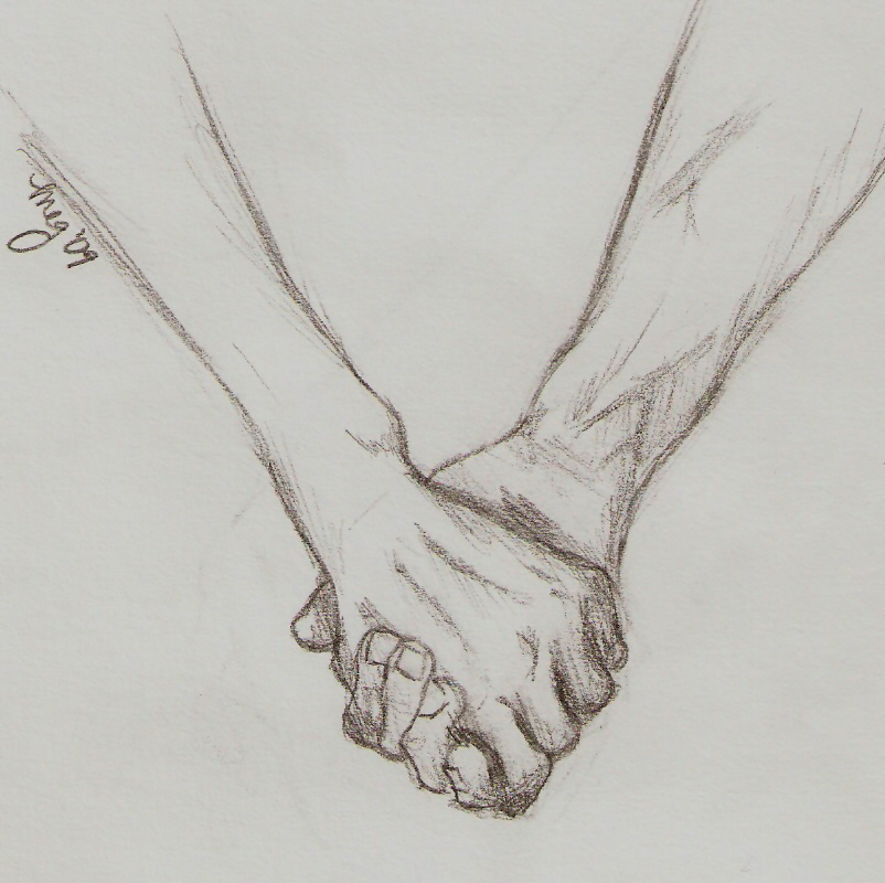 Hand Holding Rose Drawing Holding Hands Drawing