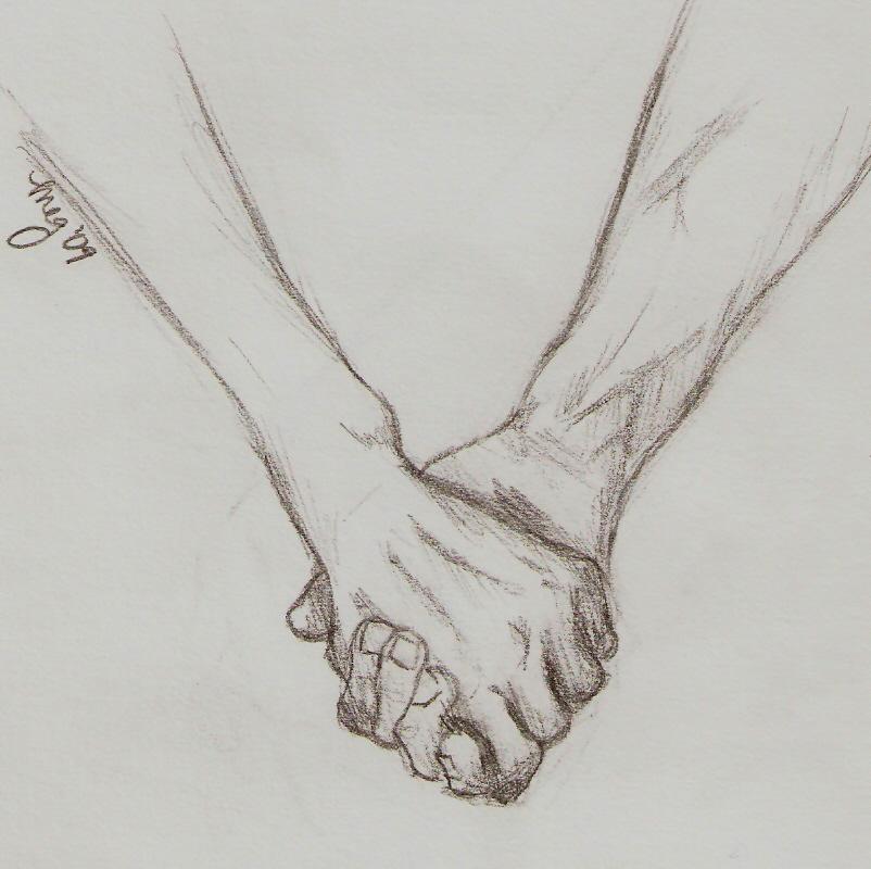 How to Draw Holding Hands by Darkonator | DrawingHub