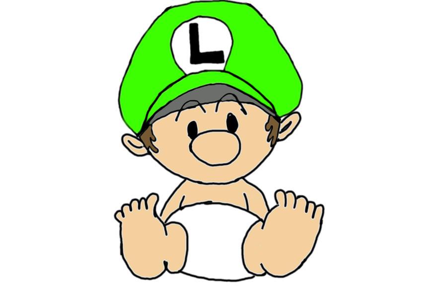 baby luigi by swordmasterg