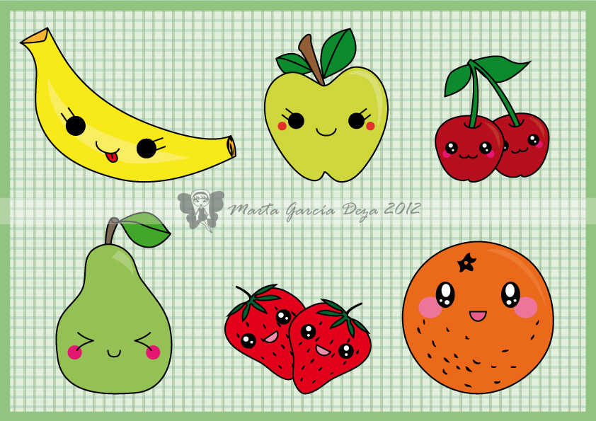 Kawaii Fruits by martagd