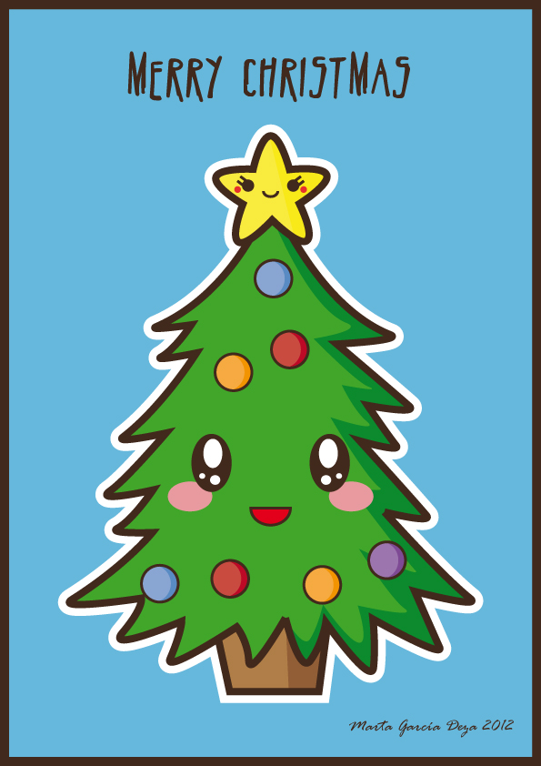 Kawaii Christmas Tree by martagd on DeviantArt