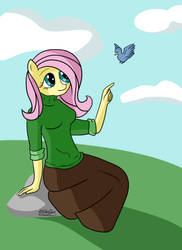 Fluttershy by xDElkaDx
