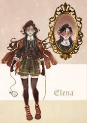 Dark Academia Elena Adoptable