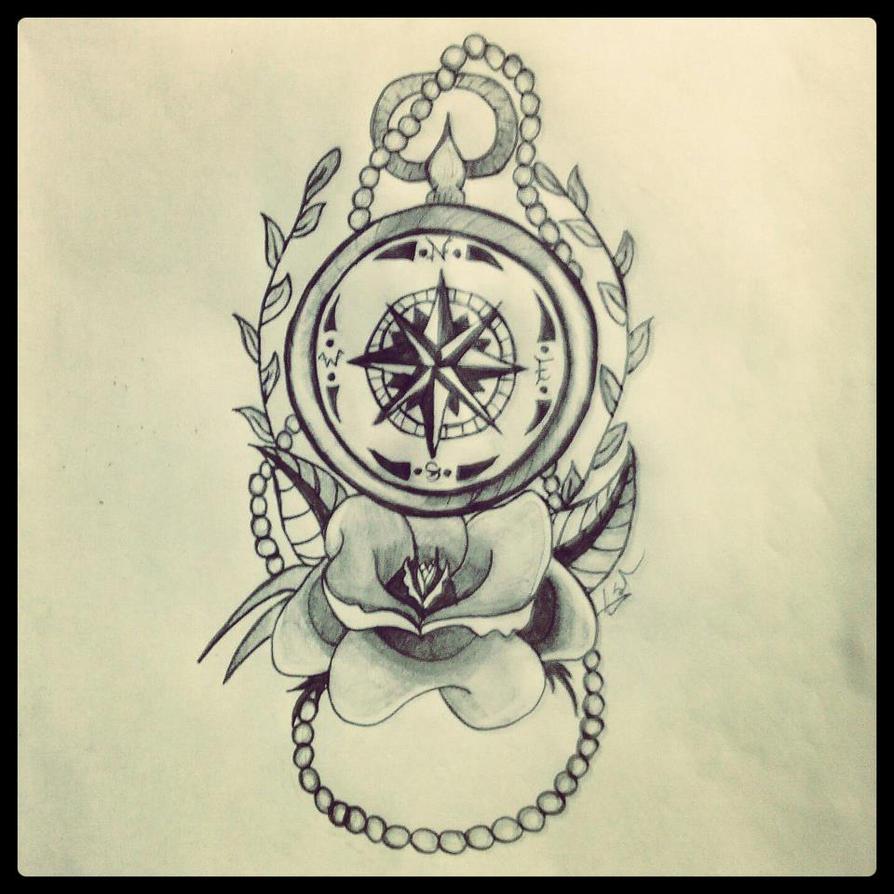 Nautical compass by bringmenirvana on deviantart for Nautical compass tattoo