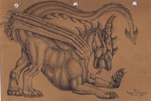 School Dragon by SilvaDragoness