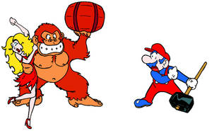 arcade Donkey Kong, Pauline, DK-colors Mario by Morbidly-Obtuse