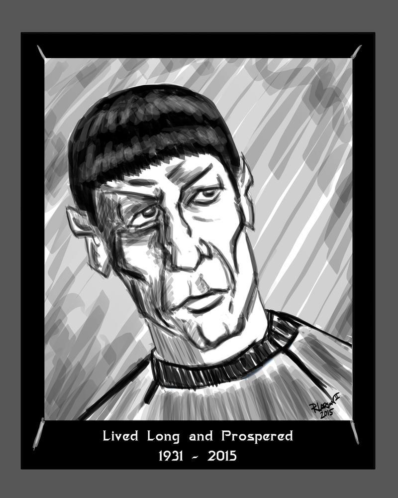 Leonard Nimoy (Spock) 1931 - 2015 by quentinlars