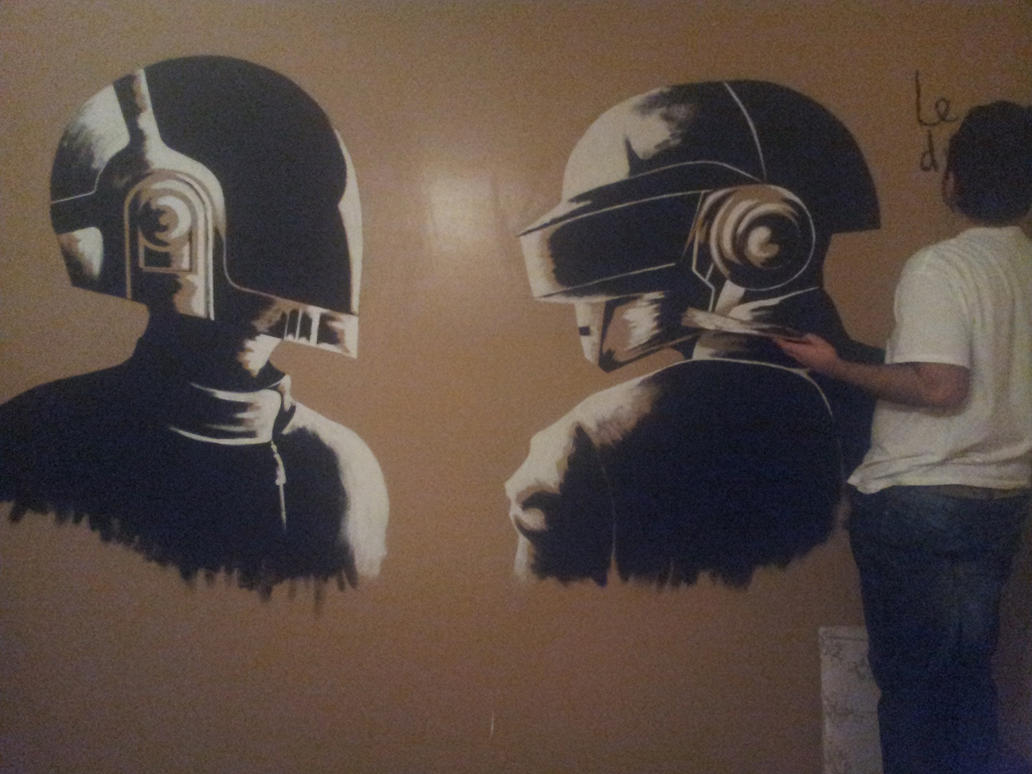 Daft punk mural 1 by msv123 on deviantart for Daft punk mural