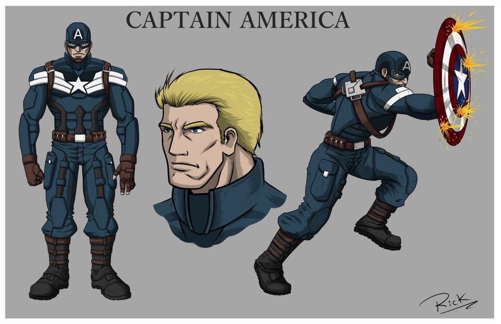 Capitan America step 2 by RicardoCabrera