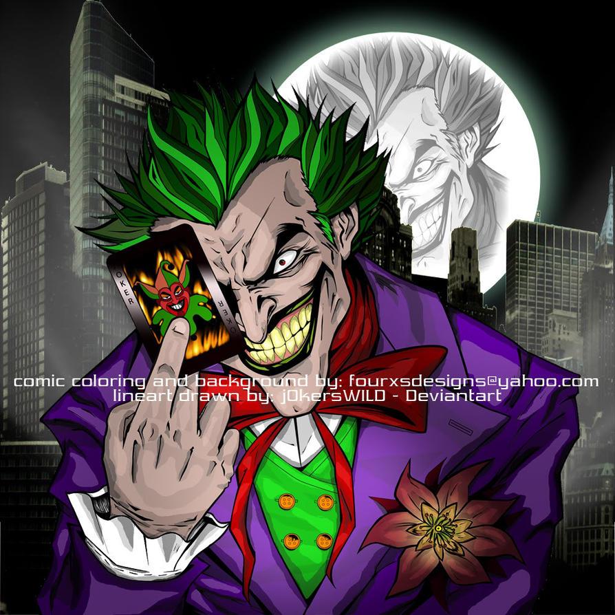 http://th07.deviantart.net/fs71/PRE/i/2010/309/0/4/comic_coloring_of_the_joker_by_fourxs-d3297bq.jpg Comic Joker Painting