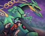 Mega Rayquaza and Brendan - Pokemon ORAS