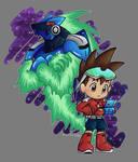 Chibi Subaru and War-Rock - Mega Man StarForce