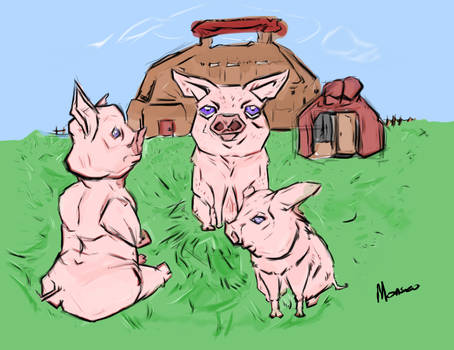 Piggly : Character Study 2 (Three Little Pigs)