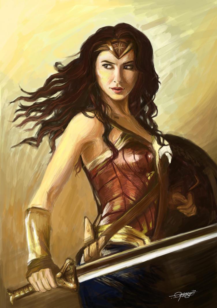 Wonder Woman by craftigouschaktonomy