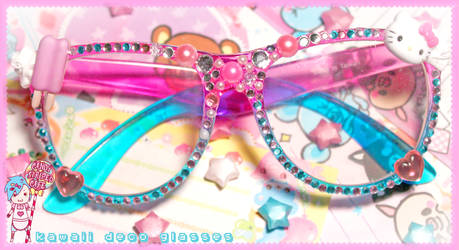 Kawaii Deco Glasses by CandyStripedCafe