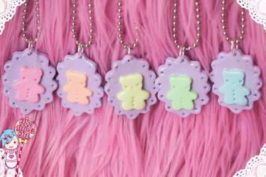 rainbow cameos by CandyStripedCafe
