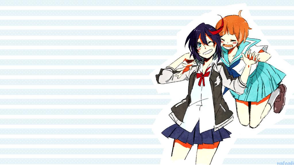 Kill La Kill Ryuko And Mako Wallpaper By Valexaki On