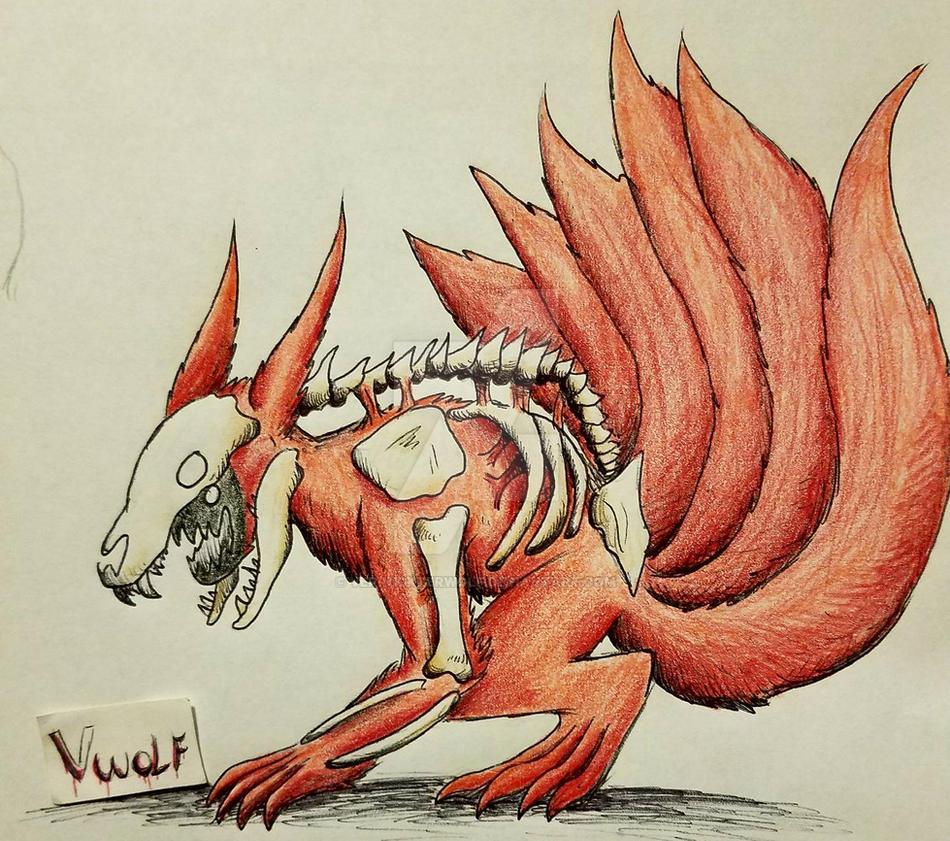 kyuubi 6 tails by VerruckterWolf