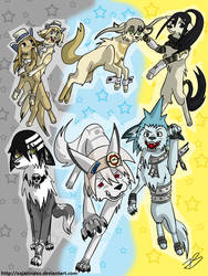 Soul Eater dogs by Timeless-Knight