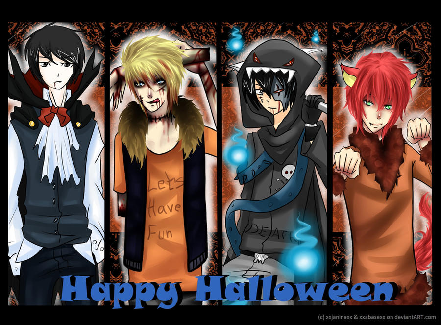 South Park Anime Kenny X Kyle Halloween in south park by