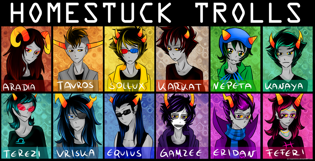 all homestuck trolls by Timeless-Knight