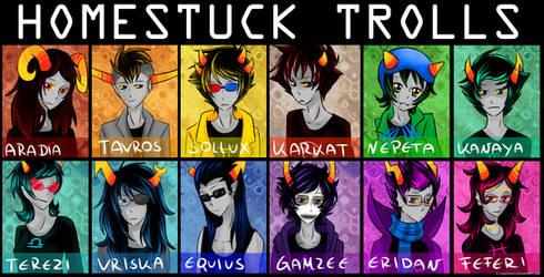 all homestuck trolls
