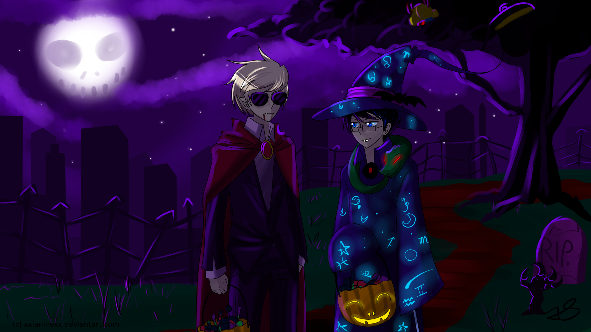 dave and john say happy halloween by timeless knight - Pictures That Say Happy Halloween