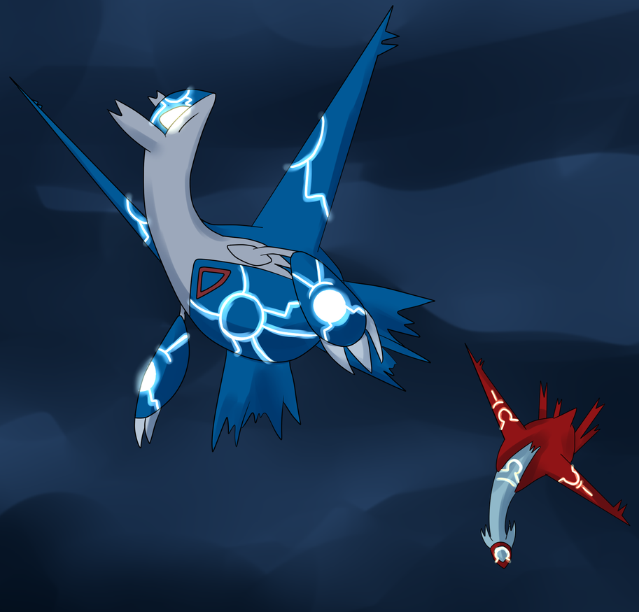 Latios and Latias by Timeless-Knight