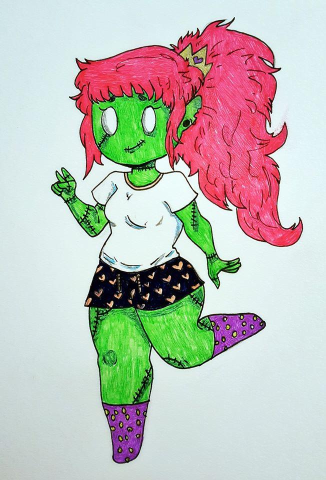 Zombie Cutie by ZombieFoxTrot