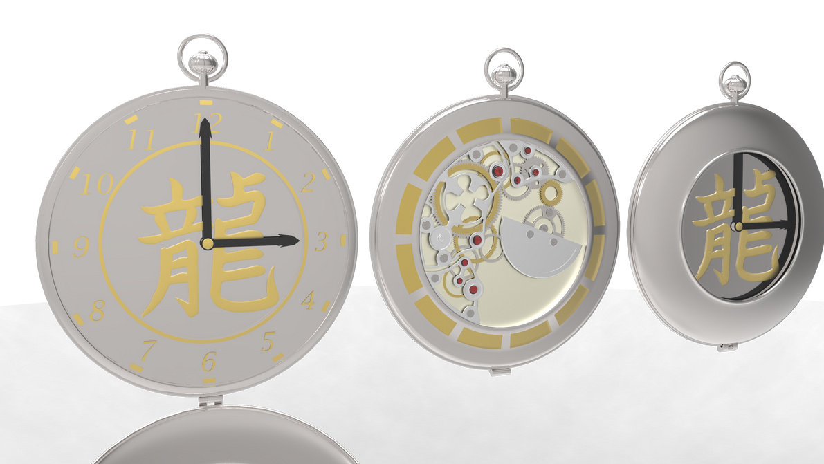 Skeleton Pocket Watch by Bahr3DCG
