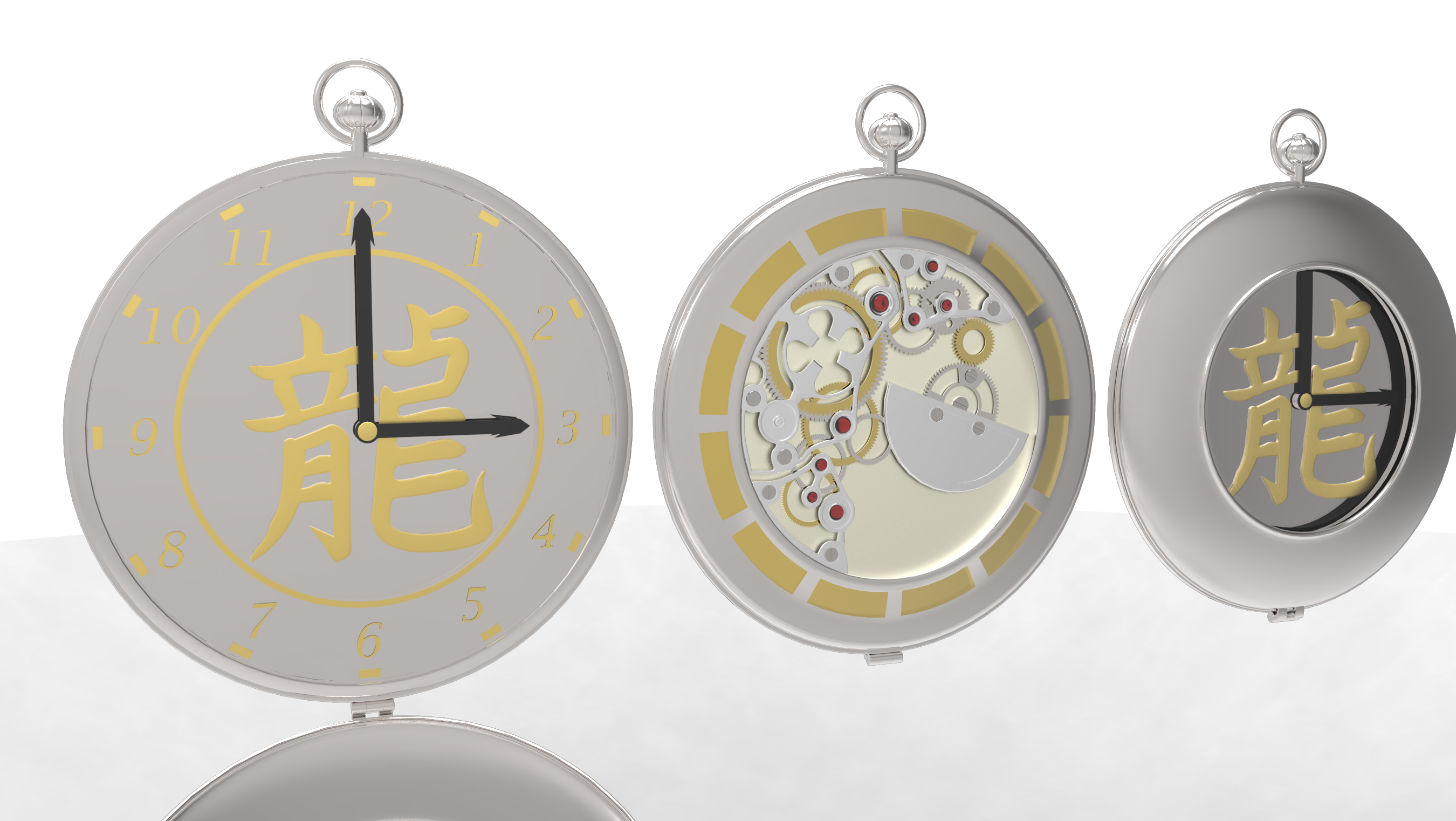 Skeleton Pocket Watch by Bahr3DCG