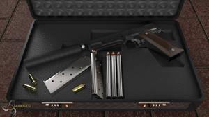 Colt M1911 Silenced by Bahr3DCG