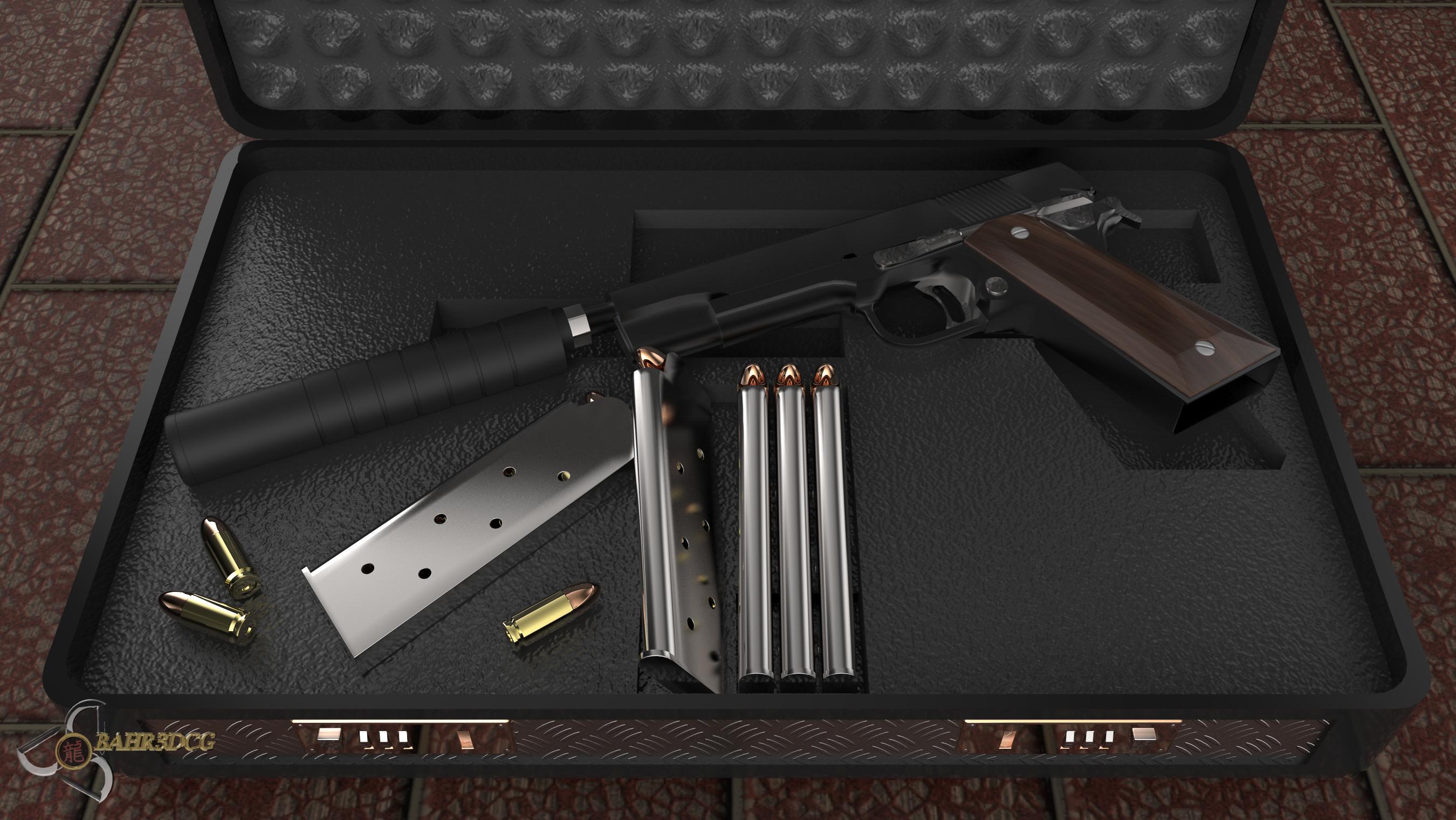 Colt M1911 Silenced by Bahr3DCG on DeviantArt M1911 Silenced