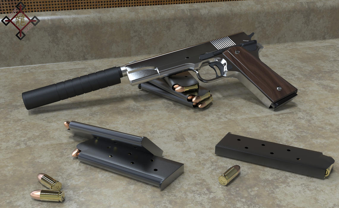 M1911 Colt Pistol by Bahr3DCG