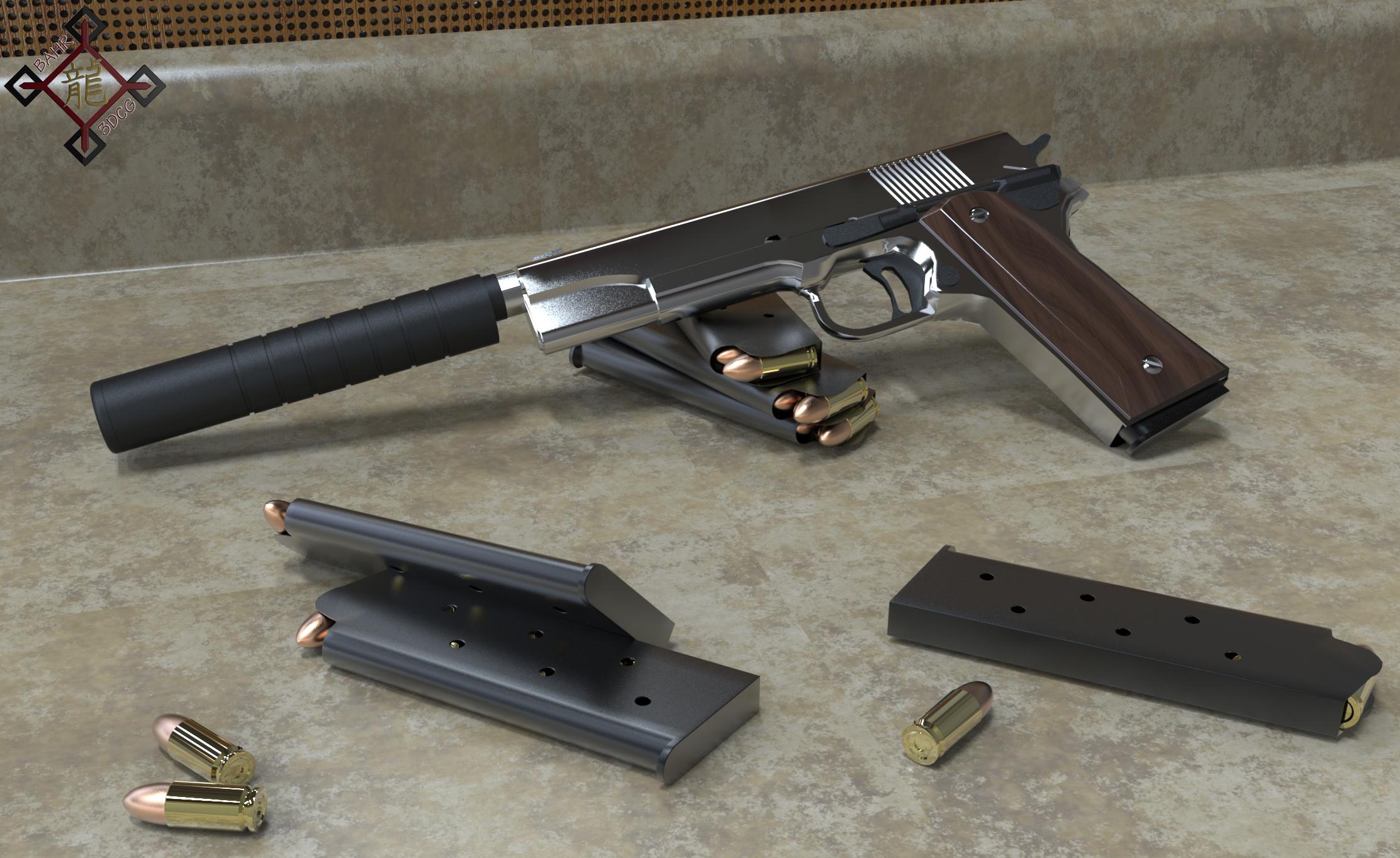 M 1911 M1911 Colt Pistol by Bahr3DCG