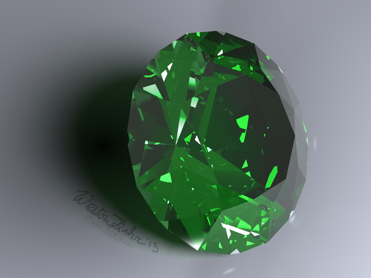 Caustic Series 4: Emerald by Bahr3DCG