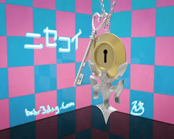 Nisekoi: Pendant and Key 3D by Bahr3DCG