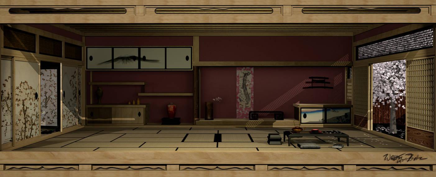 Japanese Interior 3D by Bahr3DCG