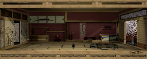 Japanese Interior 3D by Bahr3DCG